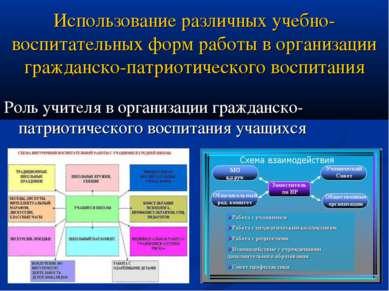 Использование различных учебно-воспитательных форм работы в организации гражд...