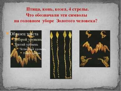 Птица, конь, козел, 4 стрелы. Что обозначали эти символы на головном уборе Зо...