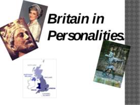 Britain in Personalities