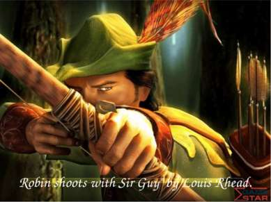 "Robin shoots with Sir Guy"" by Louis Rhead."
