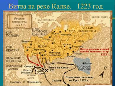Битва на реке Калке. 1223 год
