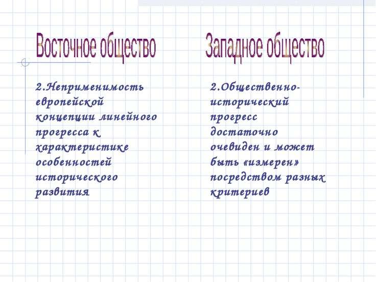 2.Неприменимость европейской концепции линейного прогресса к характеристике о...