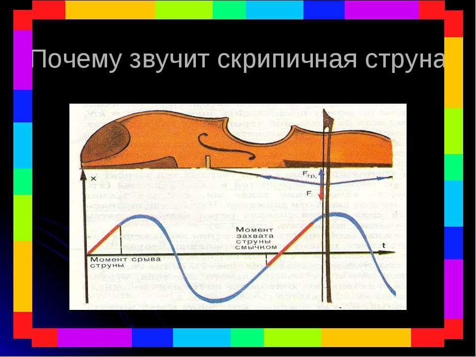 Почему звучит скрипичная струна