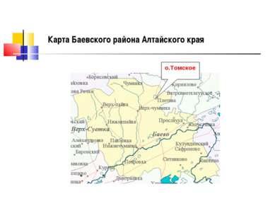 о.Томское Карта Баевского района Алтайского края