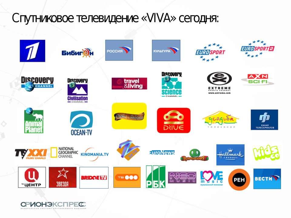 Спутниковое телевидение «VIVA» сегодня: