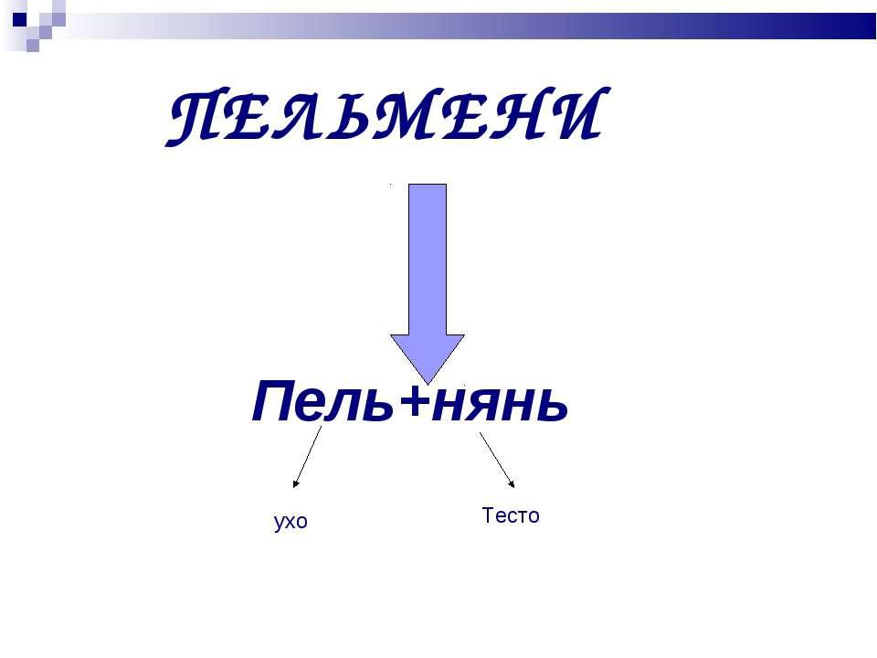 ПЕЛЬМЕНИ Пель+нянь ухо Тесто