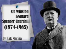 Leonard Winston Spencer Churchill