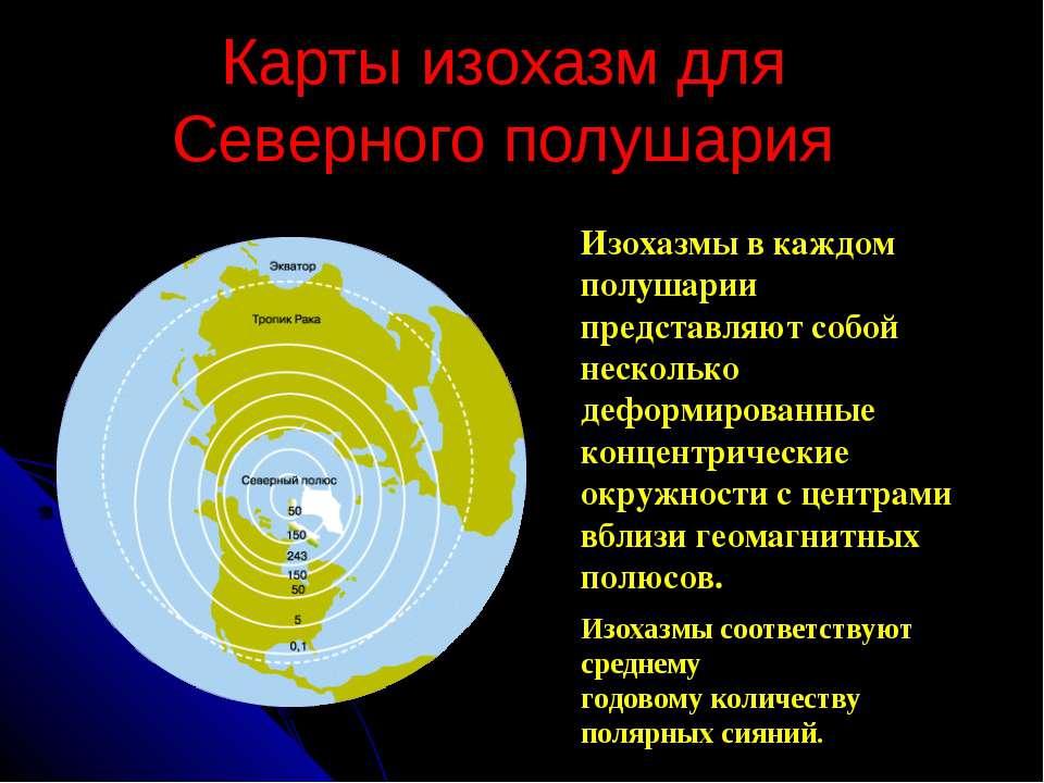 Карты изохазм для Северного полушария Изохазмы соответствуют среднему годовом...