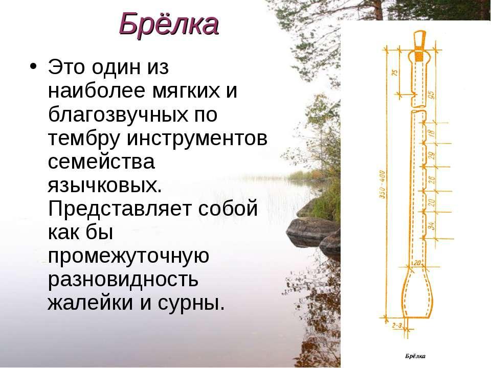 Брёлка Это один из наиболее мягких и благозвучных по тембру инструментов семе...