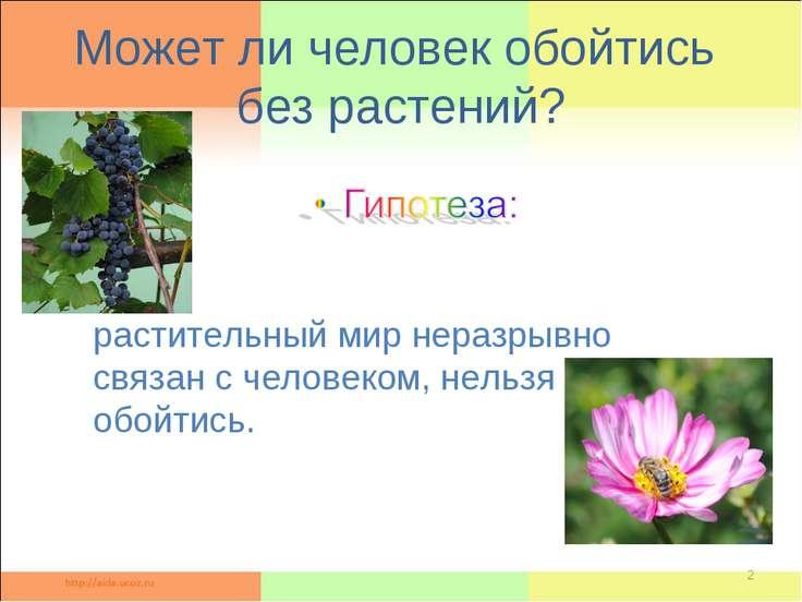 Может ли человек обойтись без растений? * растительный мир неразрывно связан ...