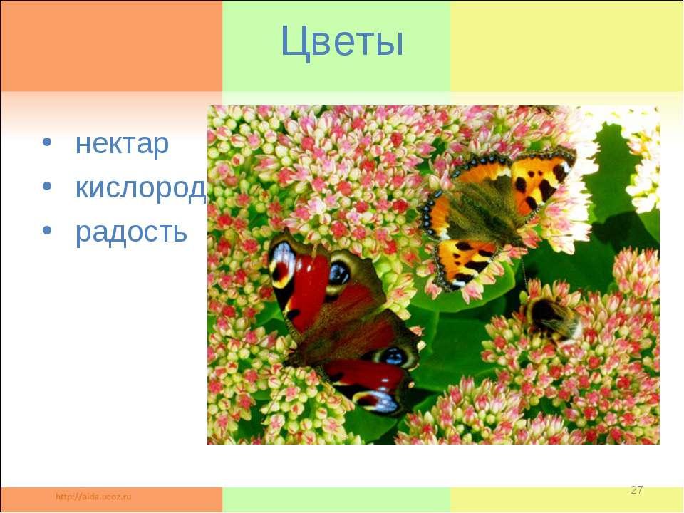 Цветы нектар кислород радость *