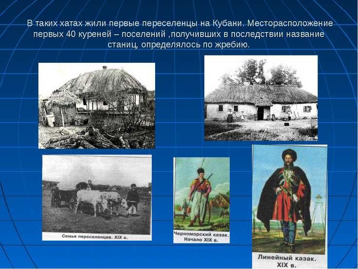 В таких хатах жили первые переселенцы на Кубани. Месторасположение первых 40 ...
