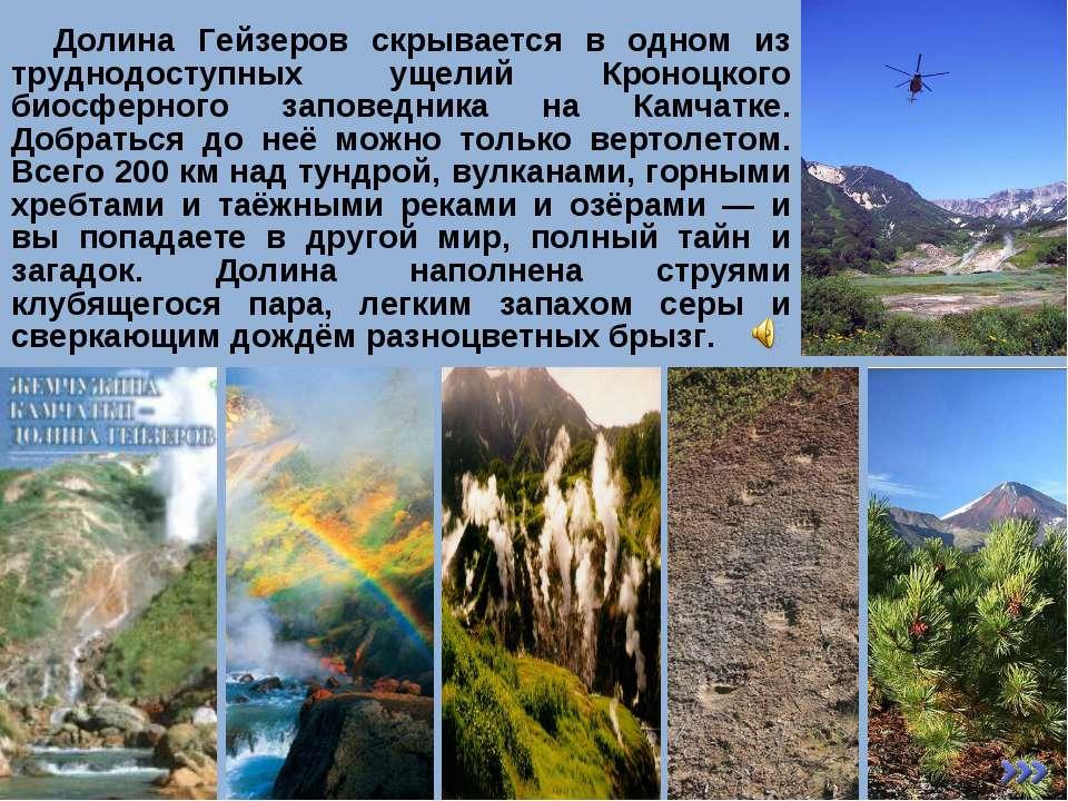 Долина Гейзеров скрывается в одном из труднодоступных ущелий Кроноцкого биосф...