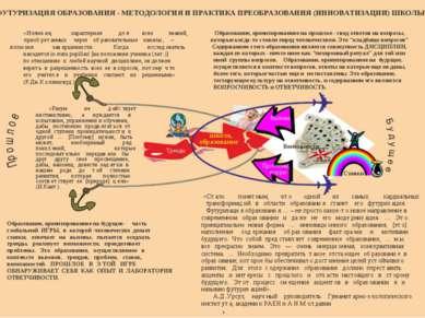 ФУТУРИЗАЦИЯ ОБРАЗОВАНИЯ - МЕТОДОЛОГИЯ И ПРАКТИКА ПРЕОБРАЗОВАНИЯ (ИННОВАТИЗАЦИ...