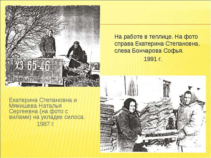 Екатерина Степановна и Мякишева Наталья Сергеевна (на фото с вилами) на уклад...