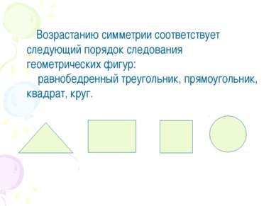 Возрастанию симметрии соответствует следующий порядок следования геометрическ...