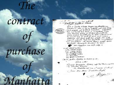 The contract of purchase of Manhattan