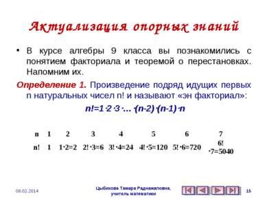 Актуализация опорных знаний В курсе алгебры 9 класса вы познакомились с понят...