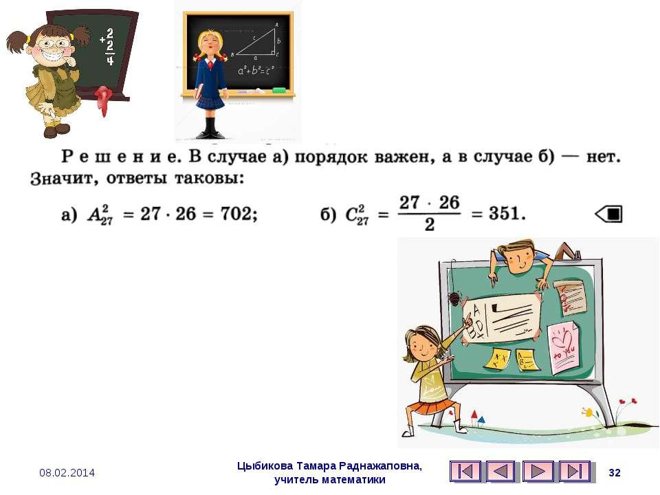 Цыбикова Тамара Раднажаповна, учитель математики 08.02.2014 * Цыбикова Тамара...