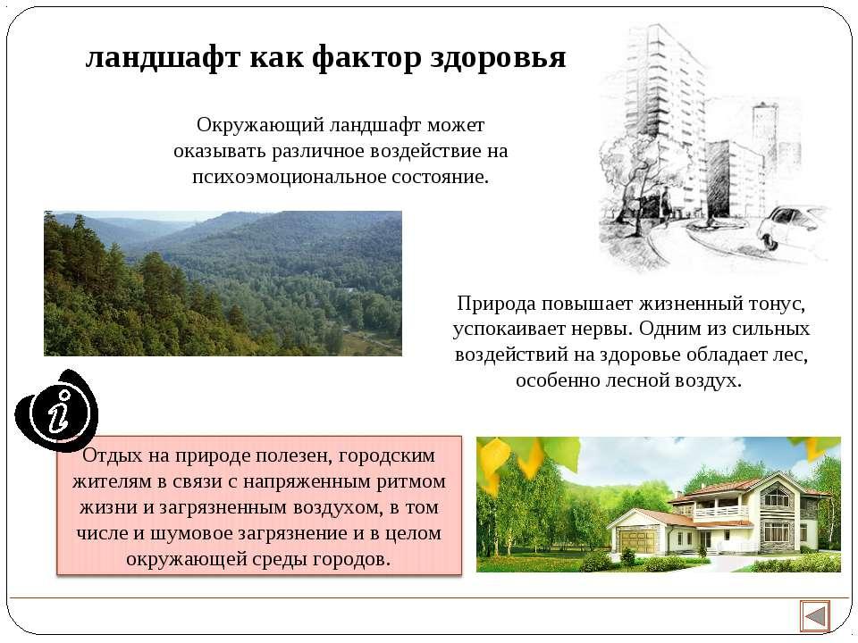 Окружающий ландшафт может оказывать различное воздействие на психоэмоциональн...