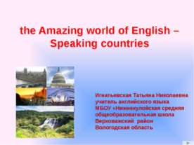 The Amazing world of English - Speaking Countries