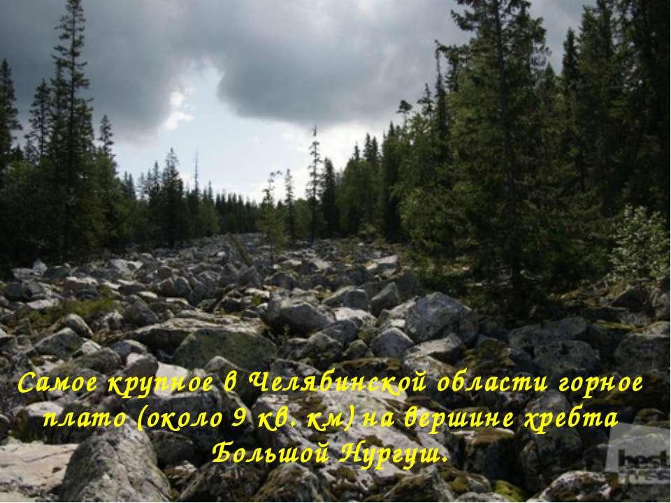 Самое крупное в Челябинской области горное плато (около 9 кв. км) на вершине ...