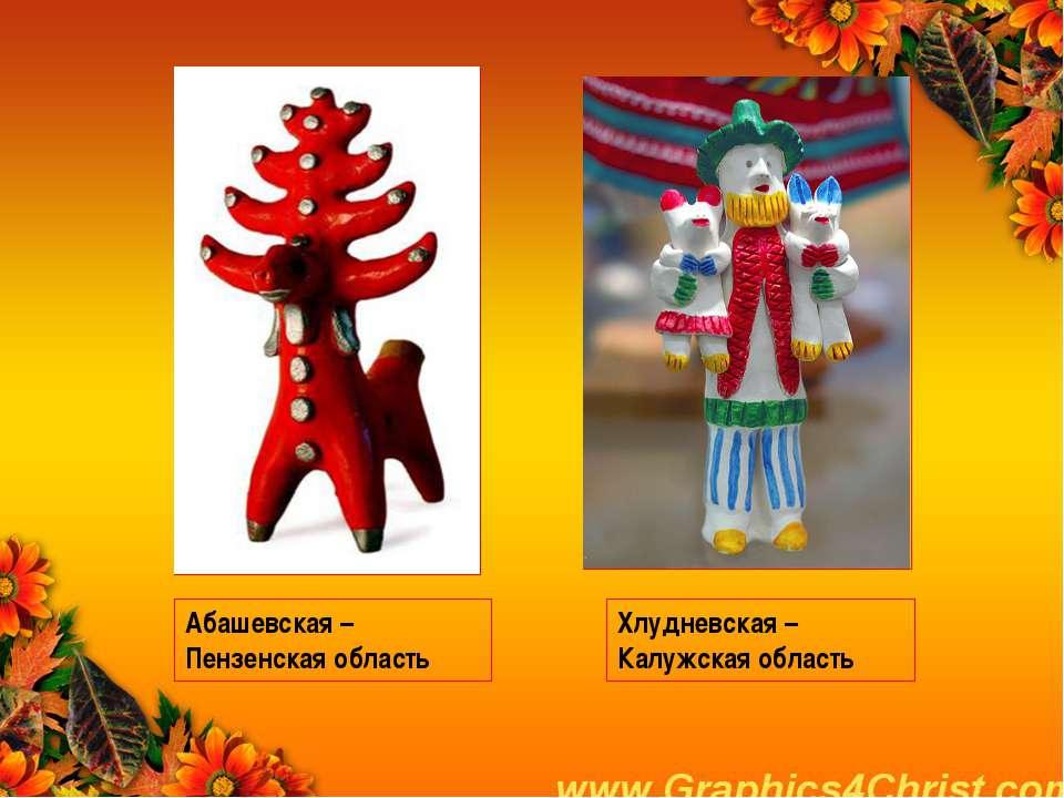 Абашевская – Пензенская область Хлудневская – Калужская область