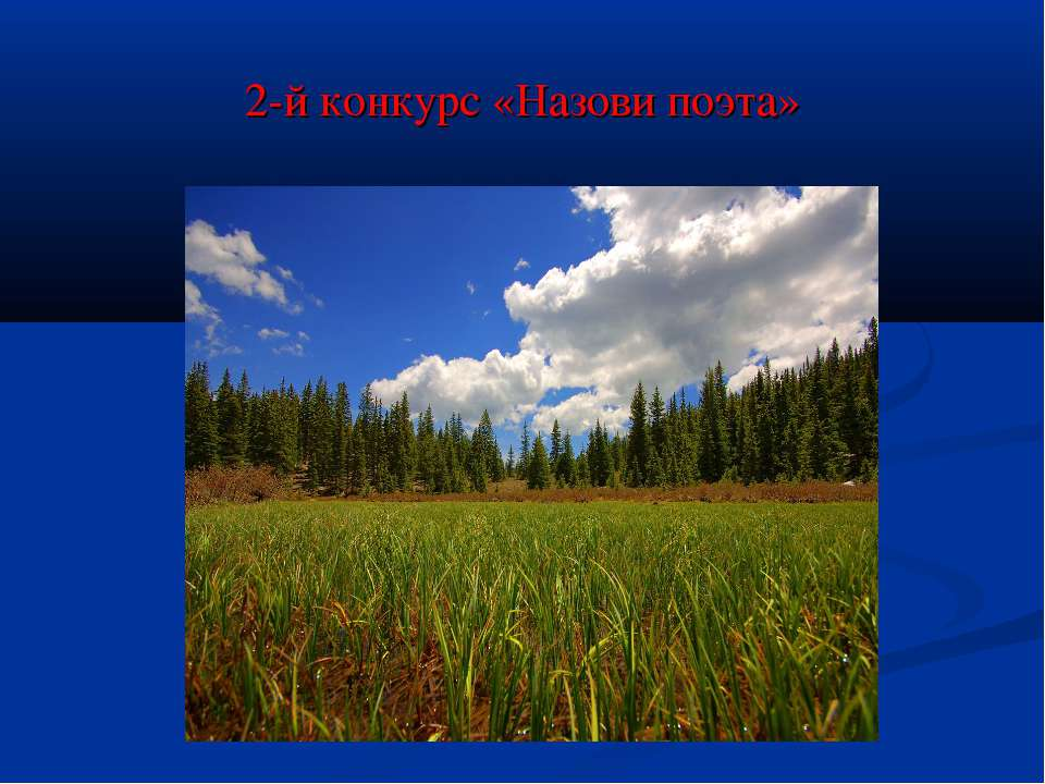 2-й конкурс «Назови поэта»