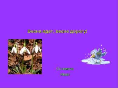 Весна идет, весне дорогу! Сотников Иван
