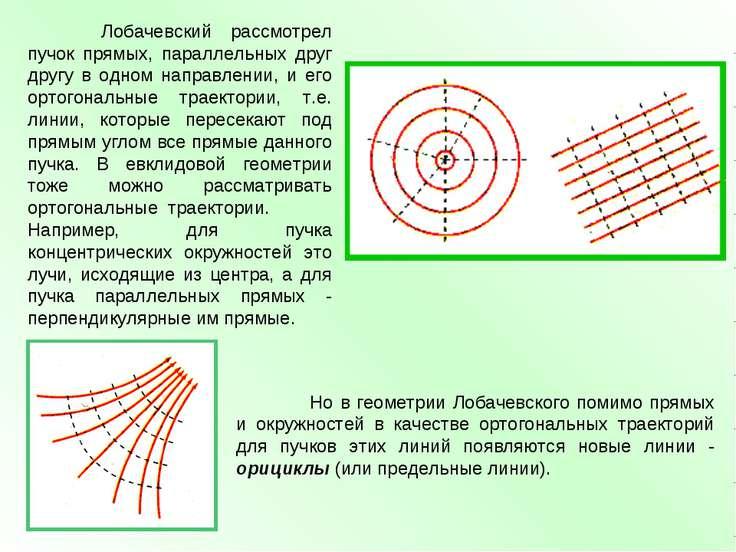 Лобачевский рассмотрел пучок прямых, параллельных друг другу в одном направле...