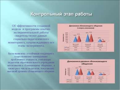 Об эффективности созданной модели и программы опытно-экспериментальной работы...