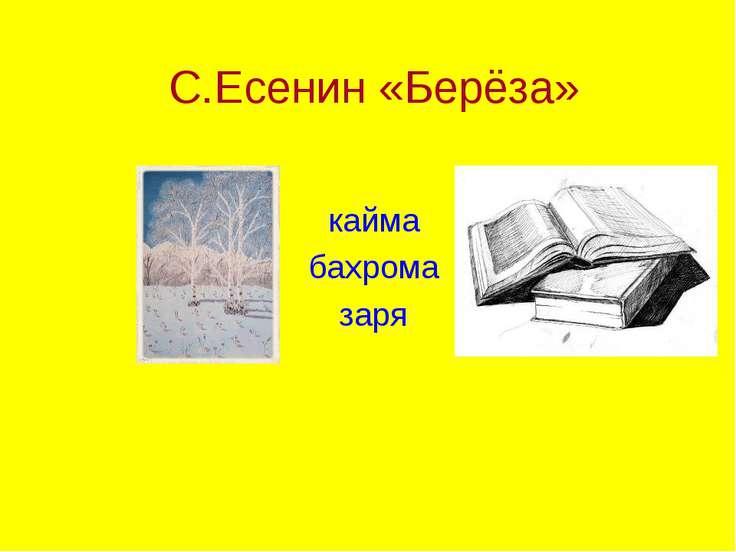 С.Есенин «Берёза» кайма бахрома заря
