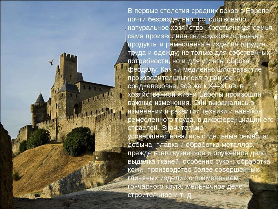 В первые столетия средних веков в Европе почти безраздельно господствовало на...
