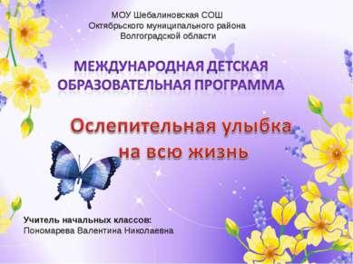 МОУ Шебалиновская СОШ Октябрьского муниципального района Волгоградской област...