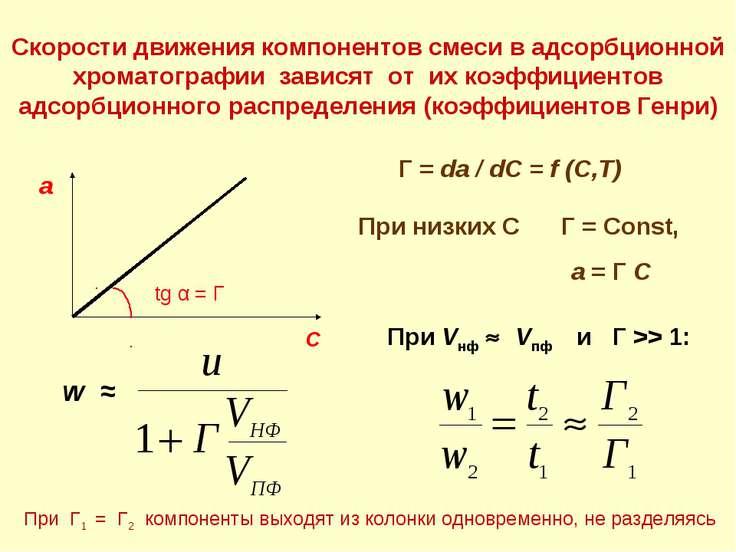 Скорости движения компонентов смеси в адсорбционной хроматографии зависят от ...