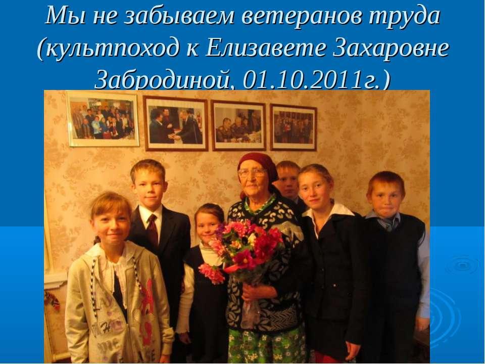 Мы не забываем ветеранов труда (культпоход к Елизавете Захаровне Забродиной, ...