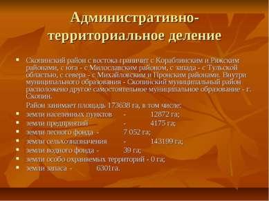 Административно-территориальное деление Скопинский район с востока граничит с...