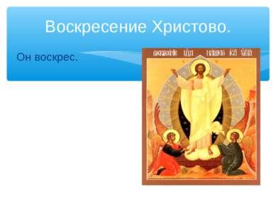 Воскресение Христово. Он воскрес.