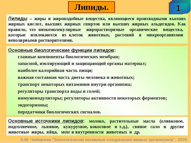 """А.М. Чибиряев """"Биологически активные соединения живых организмов"""", 2009 Липид..."""