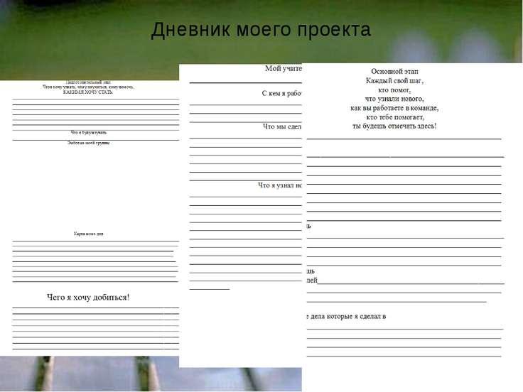 Дневник моего проекта