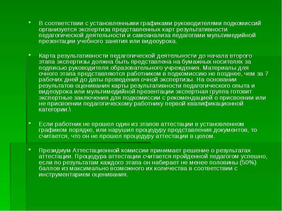 В соответствии с установленными графиками руководителями подкомиссий организу...