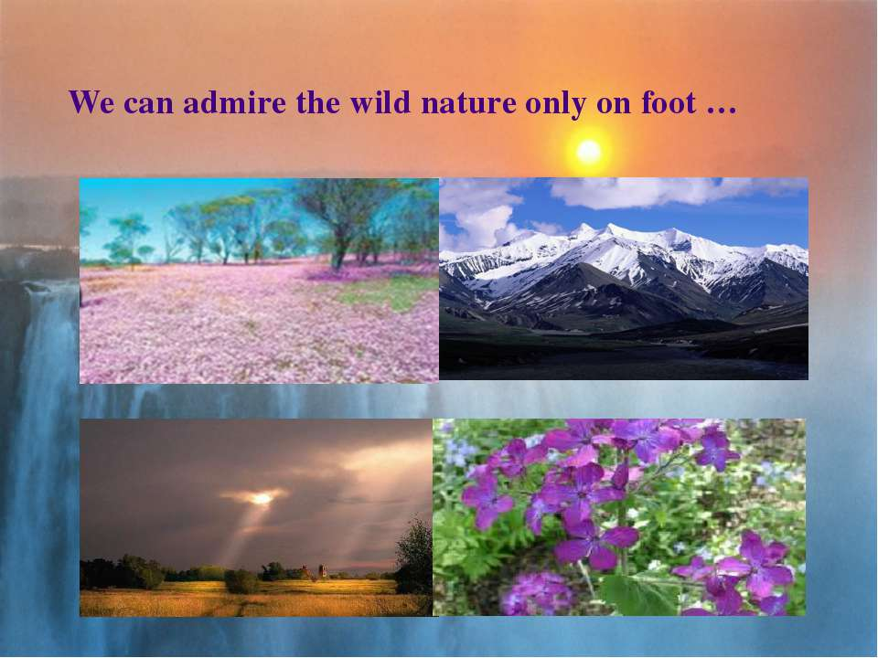 We can admire the wild nature only on foot …