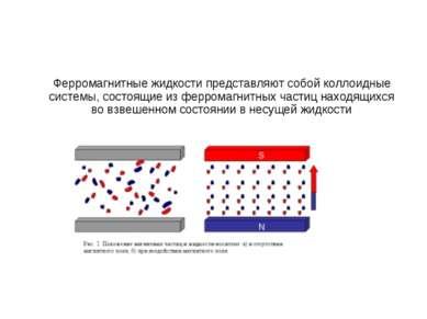 Ферромагнитные жидкости представляют собой коллоидные системы, состоящие из ф...