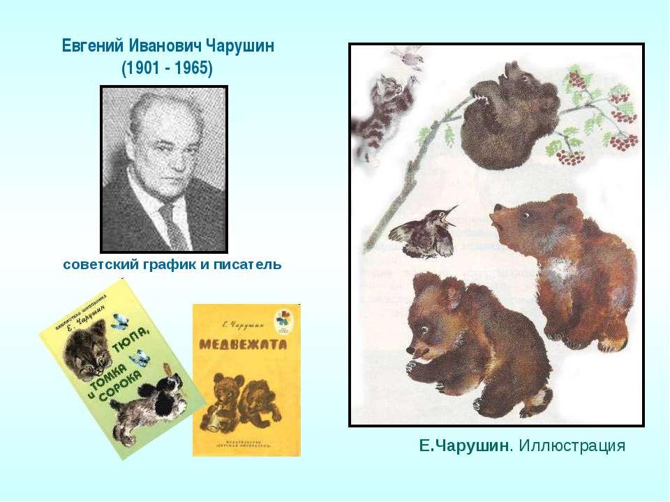 Е.Чарушин. Иллюстрация Евгений Иванович Чарушин (1901 - 1965) советский графи...