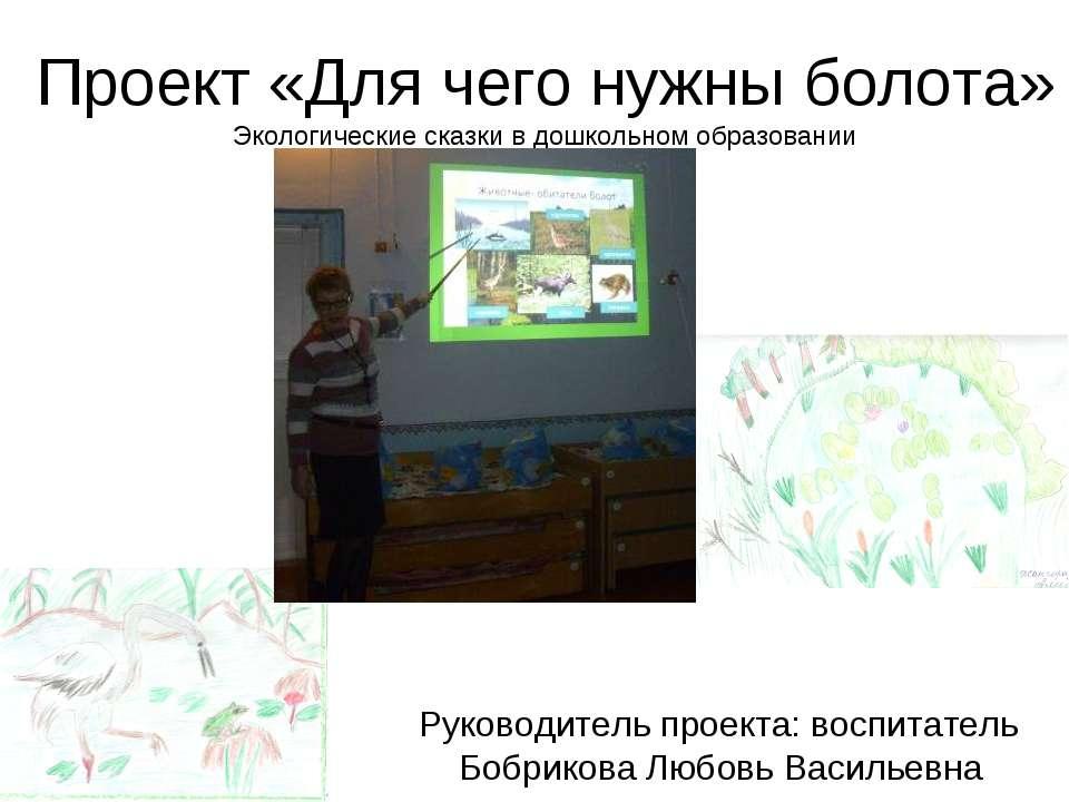 Проект «Для чего нужны болота» Экологические сказки в дошкольном образовании ...