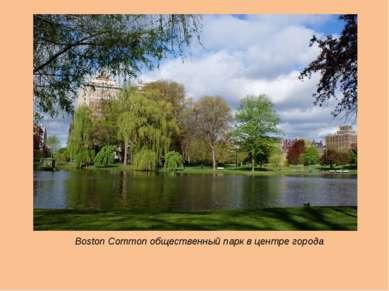 Boston Common общественный парк в центре города
