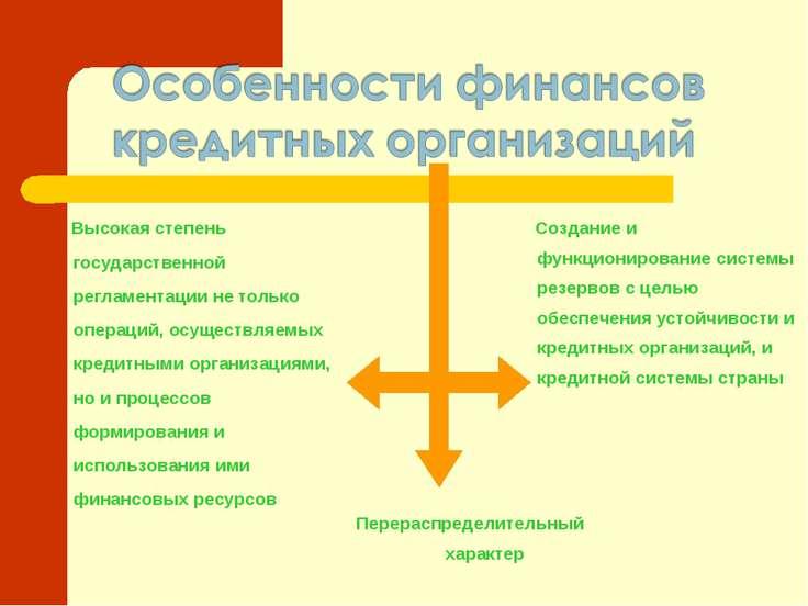 Перераспределительный характер Создание и функционирование системы резервов с...
