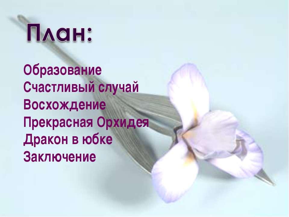 Образование Счастливый случай Восхождение Прекрасная Орхидея Дракон в юбке За...