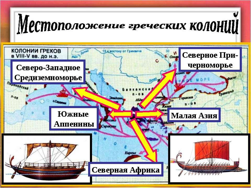 Малая Азия Северное При- черноморье Южные Аппенины Северо-Западное Средиземно...