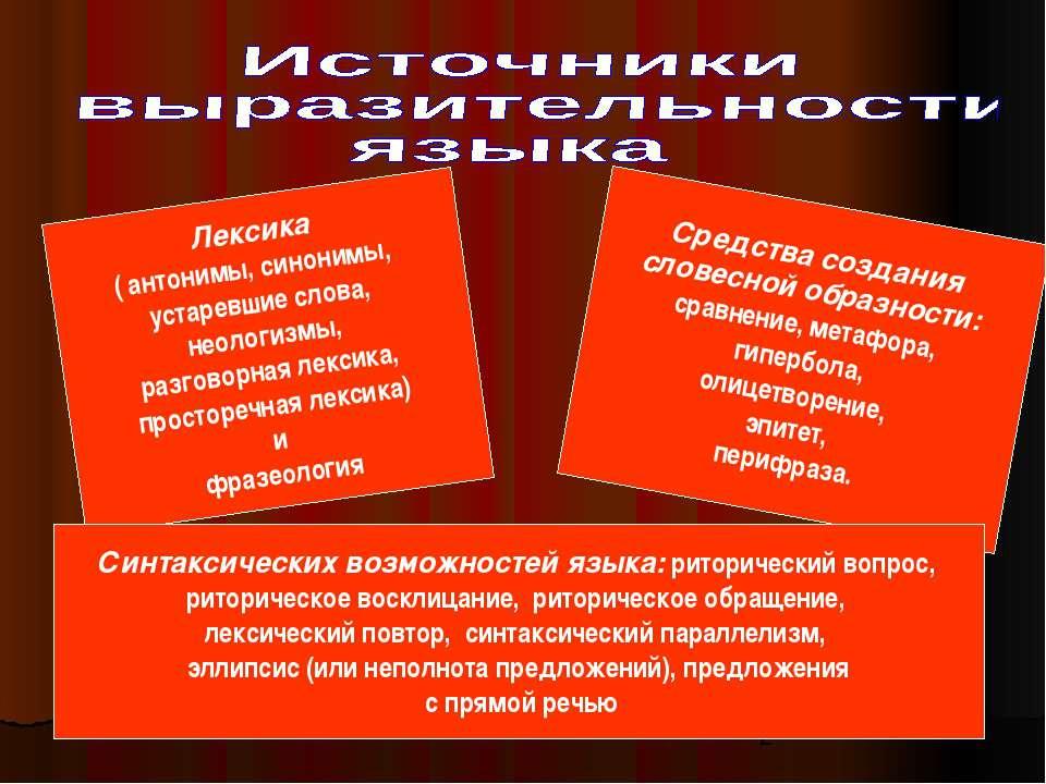 Лексика ( антонимы, синонимы, устаревшие слова, неологизмы, разговорная лекси...